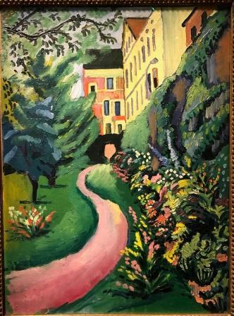 August Macke - Notre jardin en fleurs (1911)