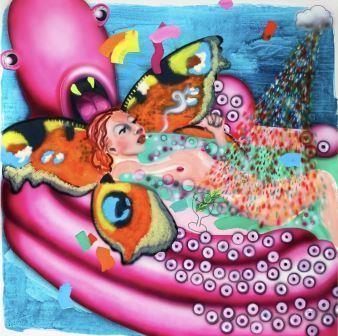 Emilie Stark (Menneg sucker, 2020, Acrylic and oil on canvas)