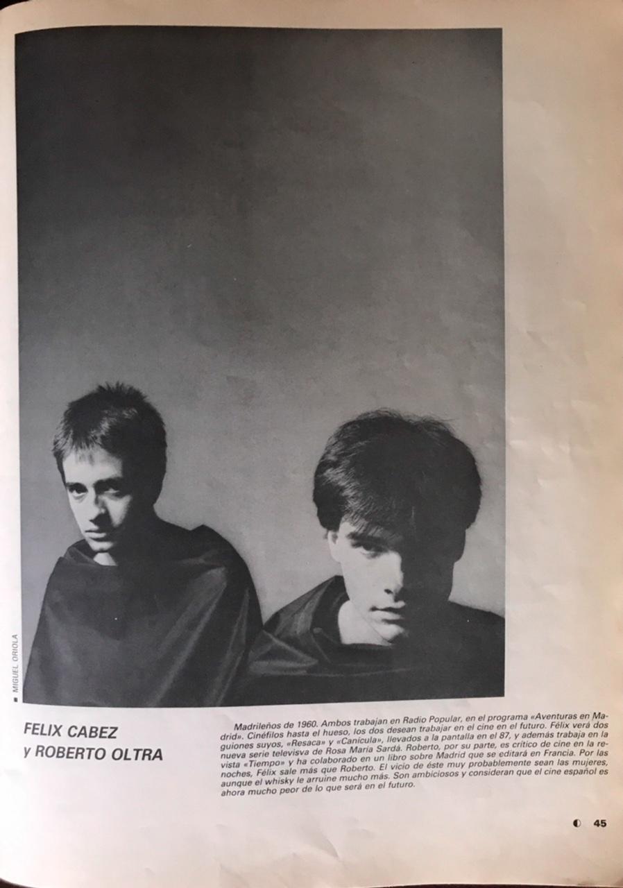 Felix Cabez y Roberto Oltra