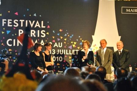Jane Fonda durante la conferencia de prensa del Festival Paris Cinéma. Foto: Festival Paris Cinéma